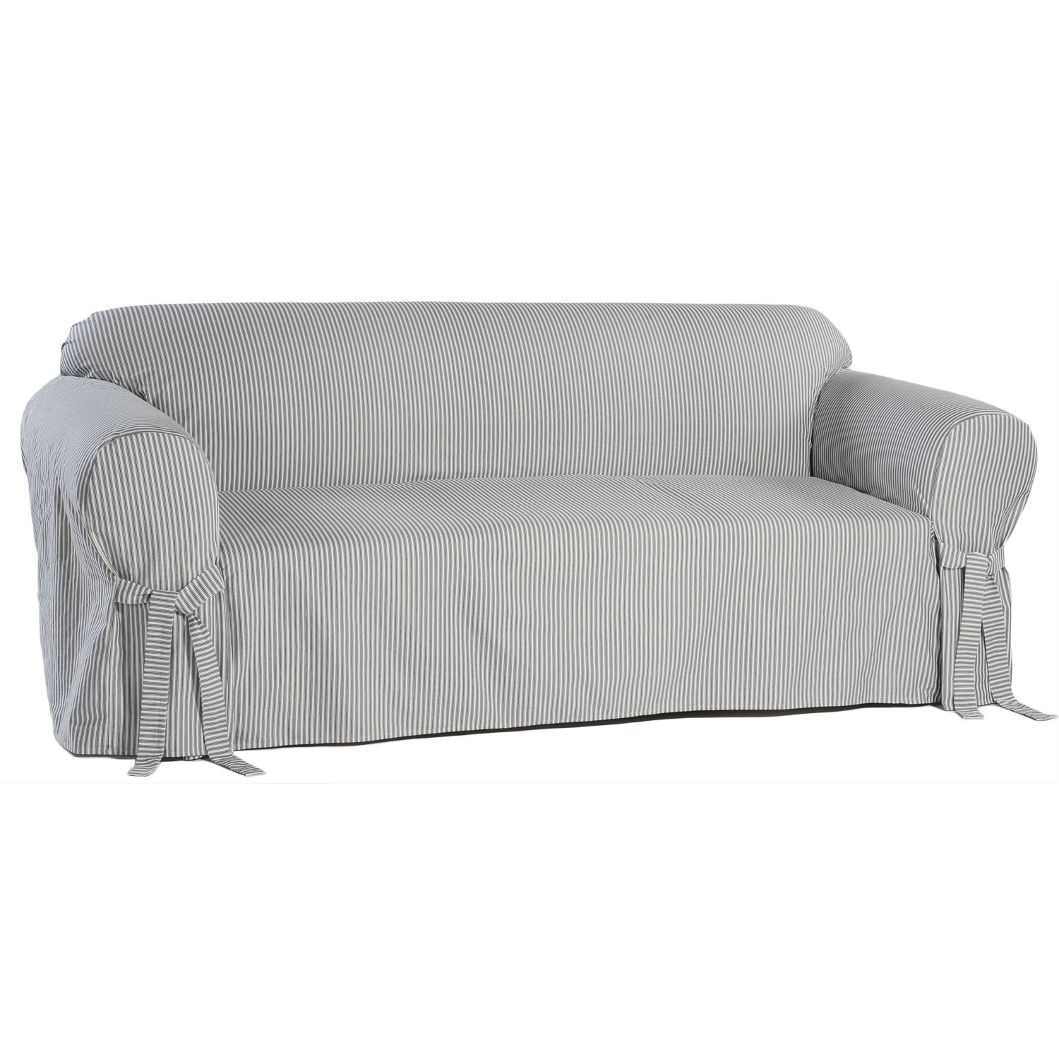 Classic Slipcovers Brushed Twill Sofa Slipcover Free Shipping  ~ White Slipcovers For Sofa
