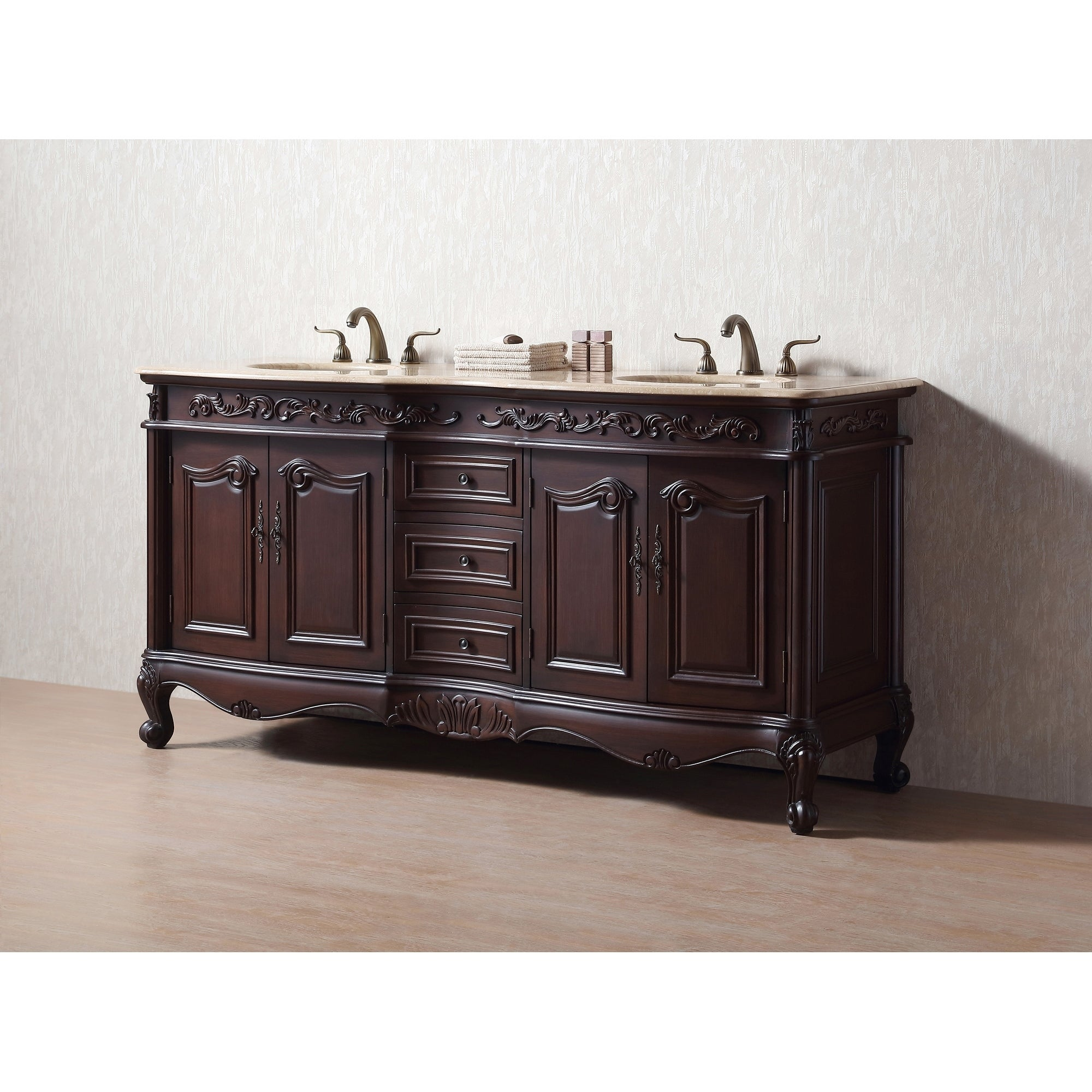 old vanities cabinet james bathroom pin martin finish amalfi cherry vanity double sink