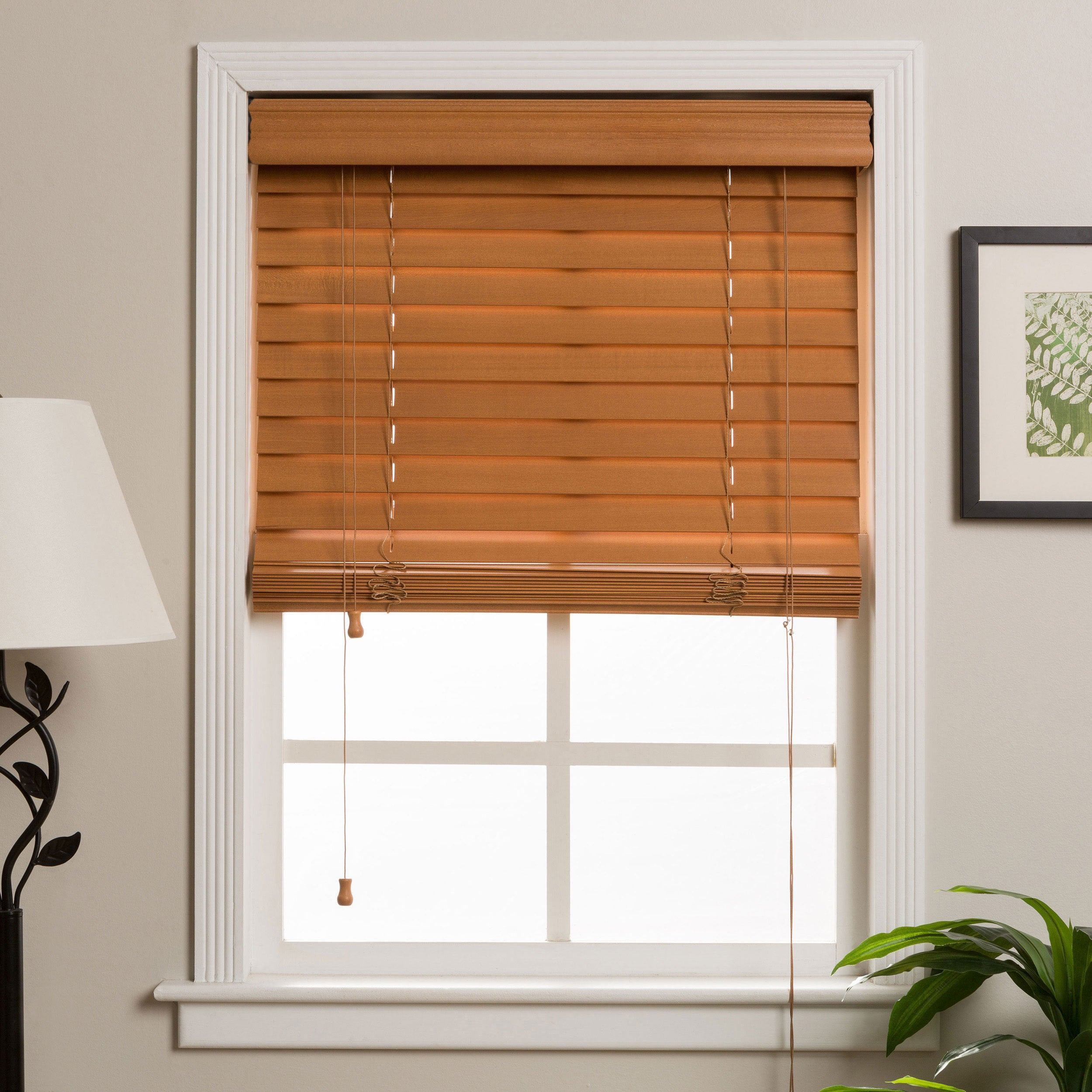 cordlessfauxwoodblind cordless faux inch blinds wood