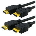 INSTEN Black 10-foot M/ M HDMI A/ V Cable (Set of Two)