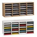 Safco Adjustable Wood Letter-size 24-compartment Literature Sorter