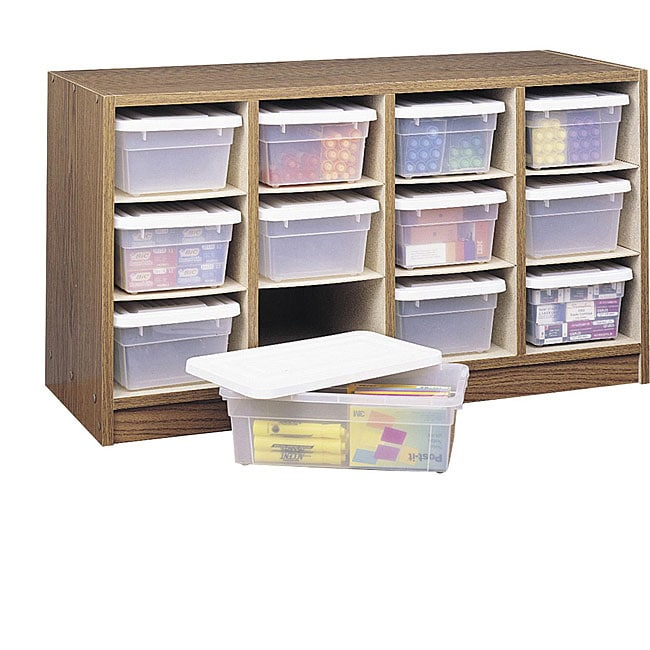 Ordinaire Shop Safco 12 Bin Laminate Finished Wooden Organizer (19u0027 X 34u0027 X 13u0027)    Free Shipping Today   Overstock.com   4657297