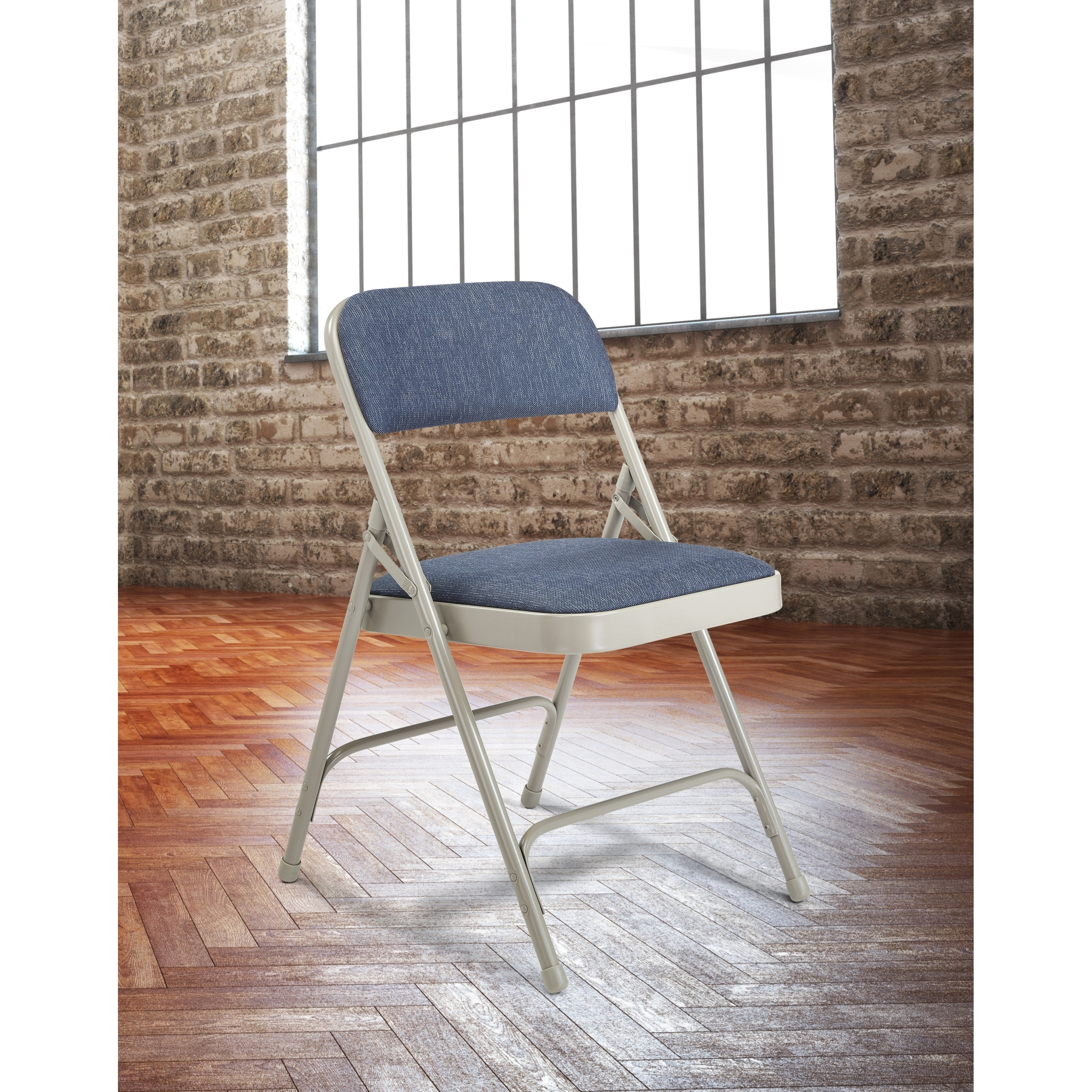 Nps Fabric Upholstered Premium Folding Chairs Pack Of 4 Free Shipping Today 4662058