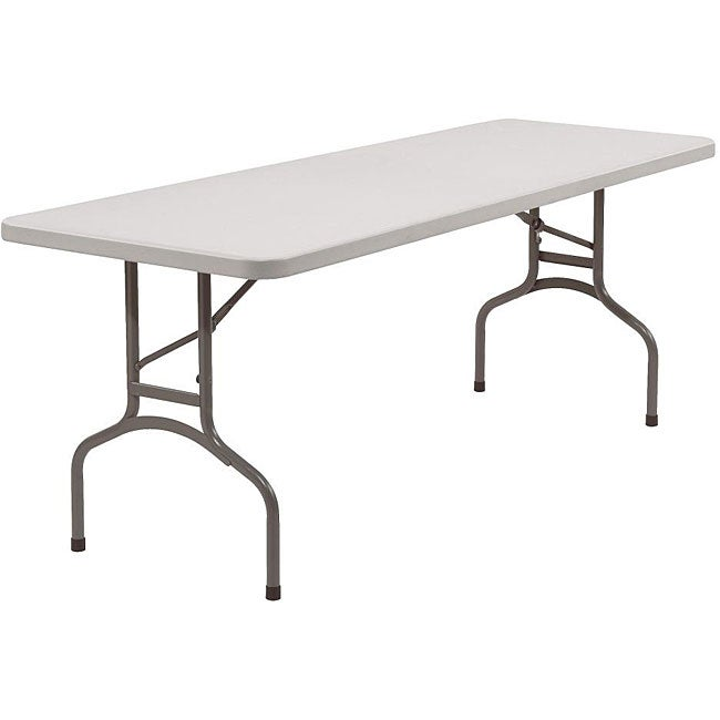 Shop Nps Resin Rectangular Folding Table 30 X 72 Free Shipping