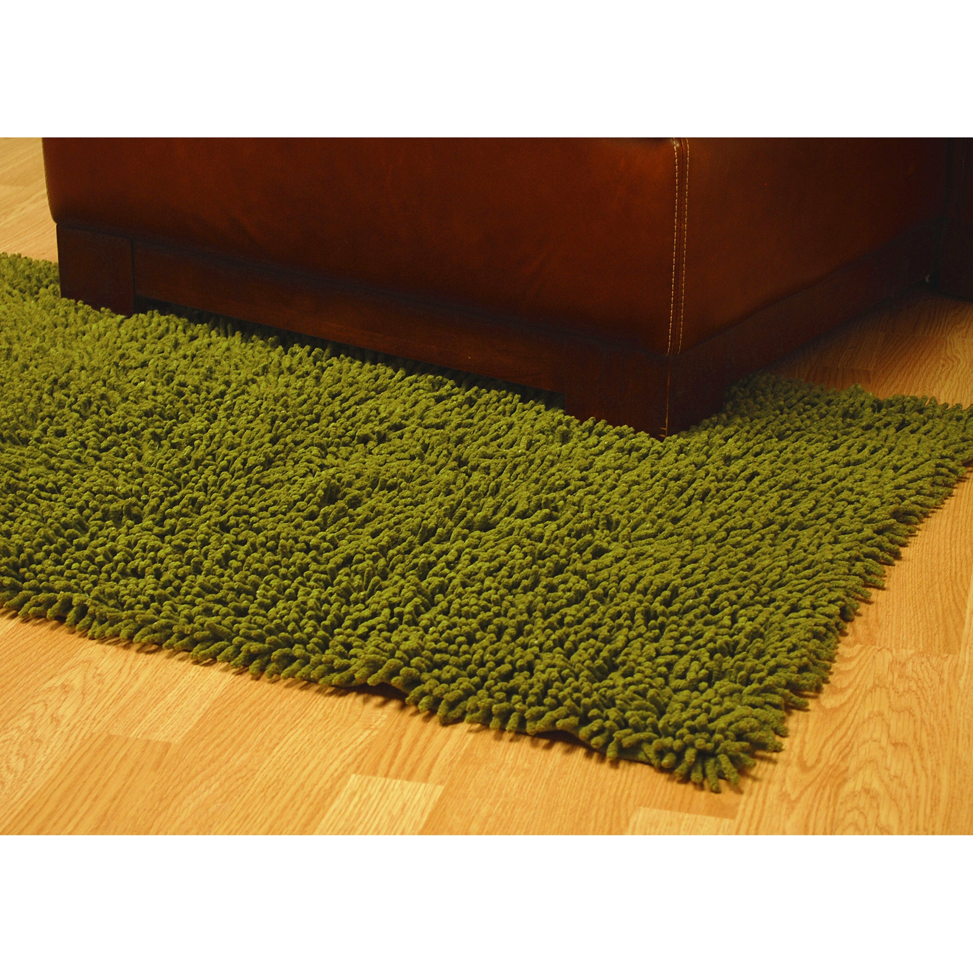 Hand Woven Moss Green Chenille Rug 4 X 6 On Free Shipping Today Com 4662218