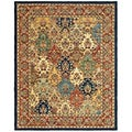 Safavieh Handmade Heritage Timeless Traditional Multicolor/ Burgundy Wool Rug (9'6 x 13'6)