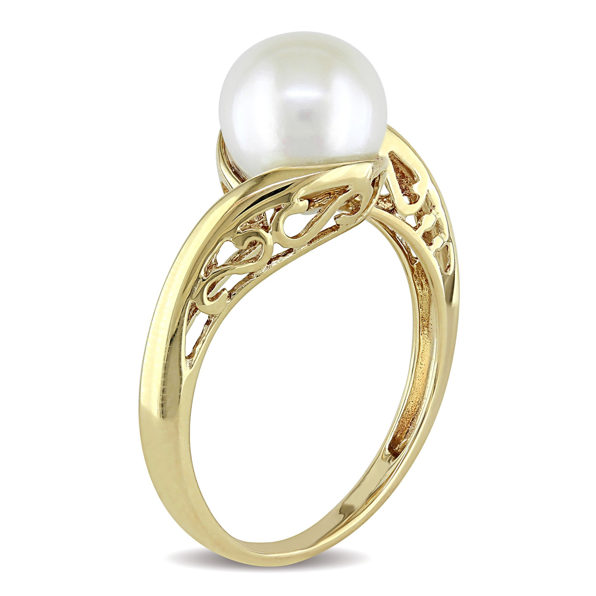 rings pearl engagement ring set pin stacking gold freshwater gypsy tiny