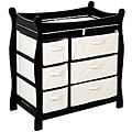 Badger Basket Black 6-basket Baby Changing Table