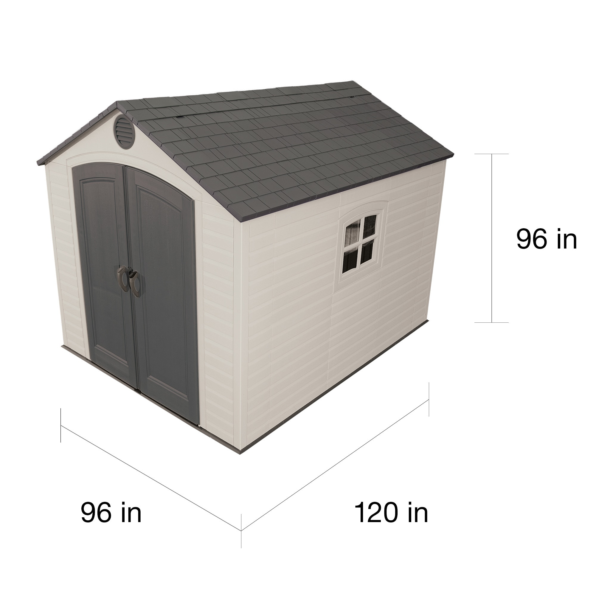 Shop Lifetime Tan/Brown 8u0027 X 10u0027 Outdoor Storage Shed   Free Shipping Today    Overstock.com   4685259