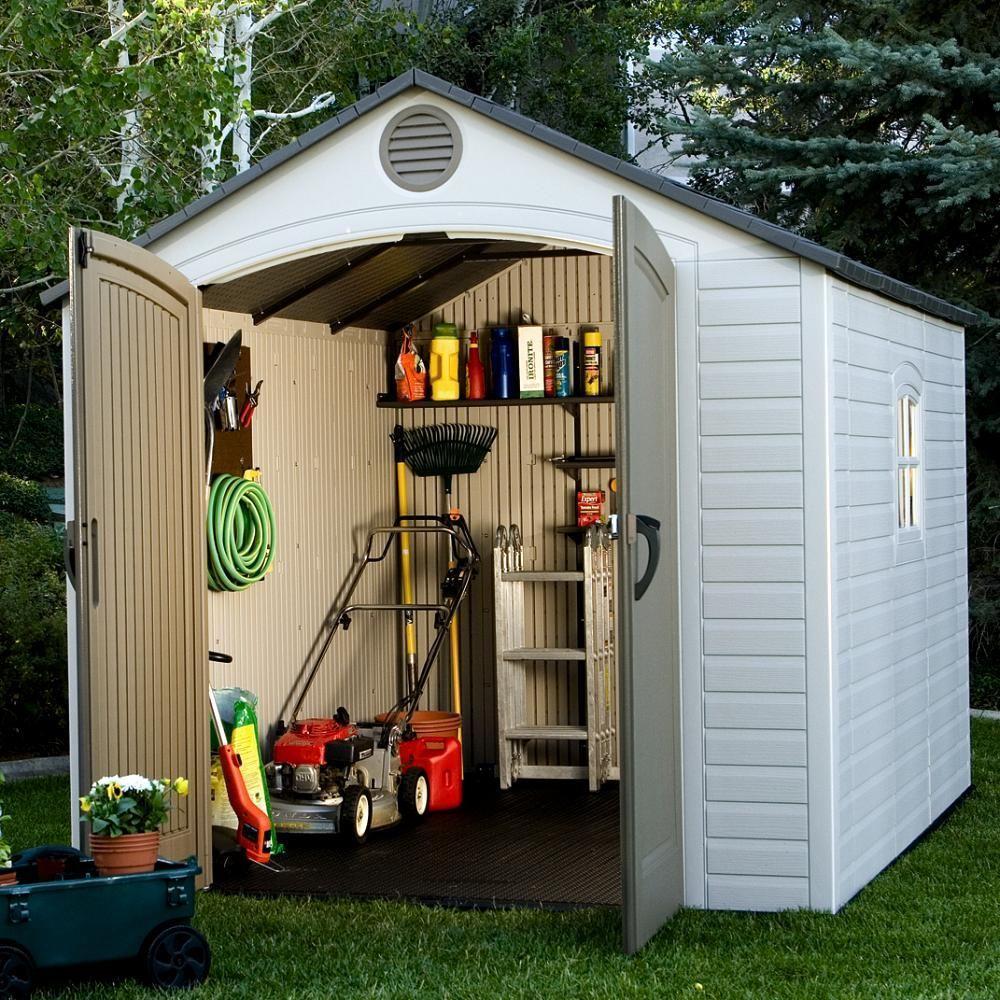Bon Shop Lifetime Tan/Brown 8u0027 X 10u0027 Outdoor Storage Shed   Free Shipping Today    Overstock.com   4685259