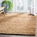 Safavieh Hand-knotted All-Natural Hayfield Beige Hemp Rug (8' x 10')