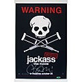 Bam Margera Autographed Jackass Poster with Steiner Sports Certificate