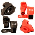 Pro Boxing Gloves and Head Gear (Set of 2 Each)