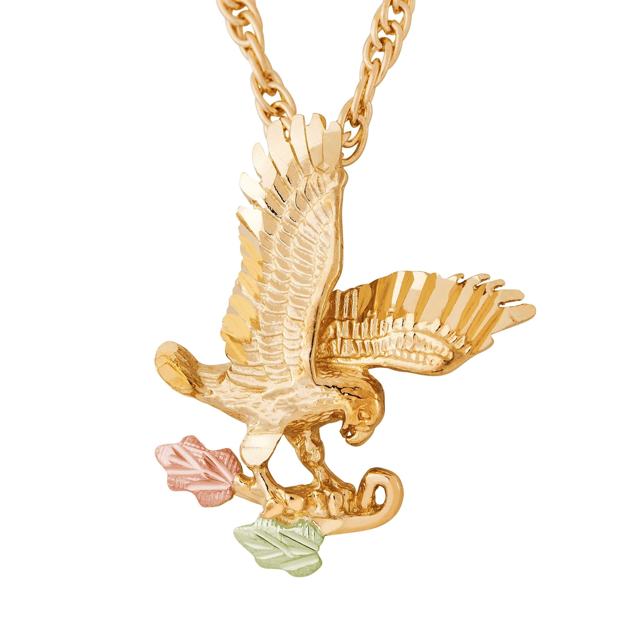 s eagle palmbeach necklace chain yellow gold detail tone at cfm pendant mens products men jewelry rope