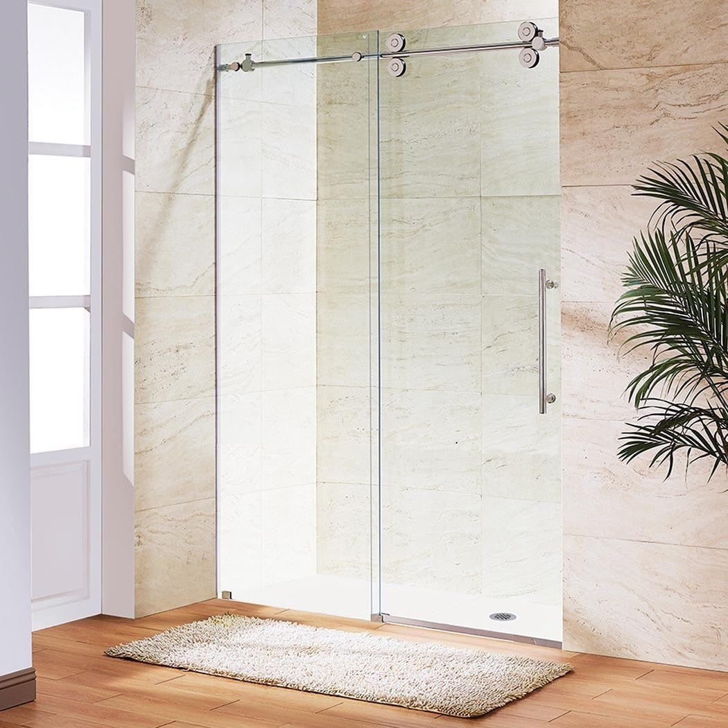 Shop Vigo 72 Inch Frameless Sliding Glass Shower Door Free