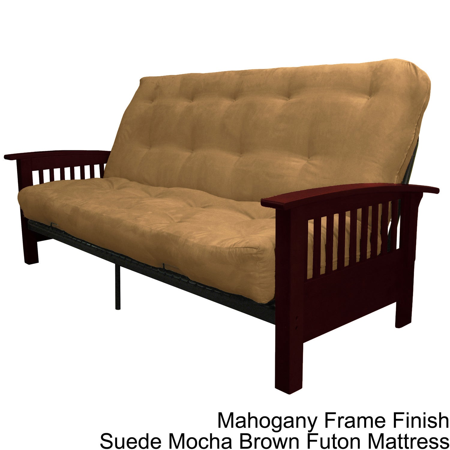 Brendan Full size Mission style Frame with Inner Spring Futon