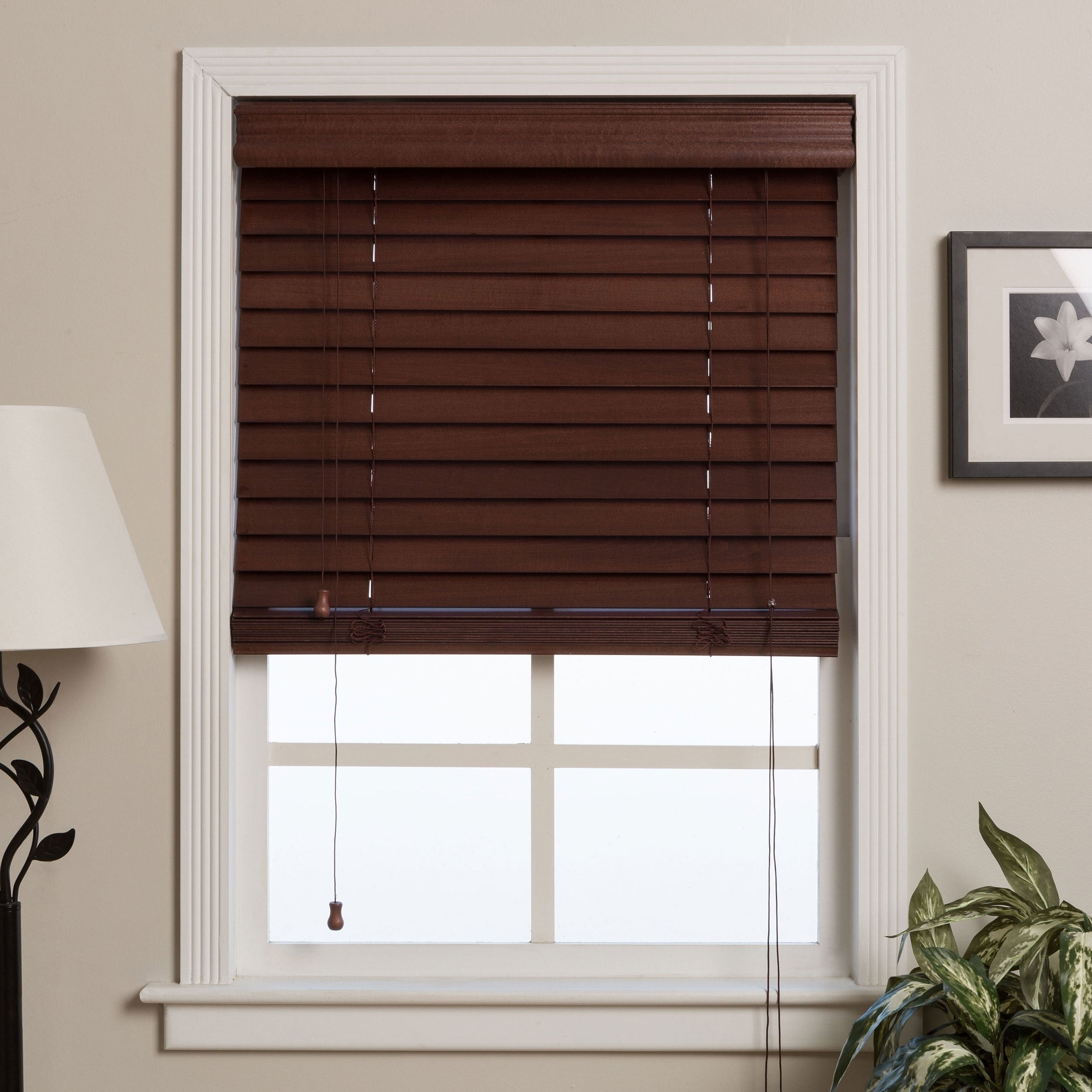 Arlo Blinds Safe Er Grip Customized Real Wood 17 Inch Wide Window Blinds