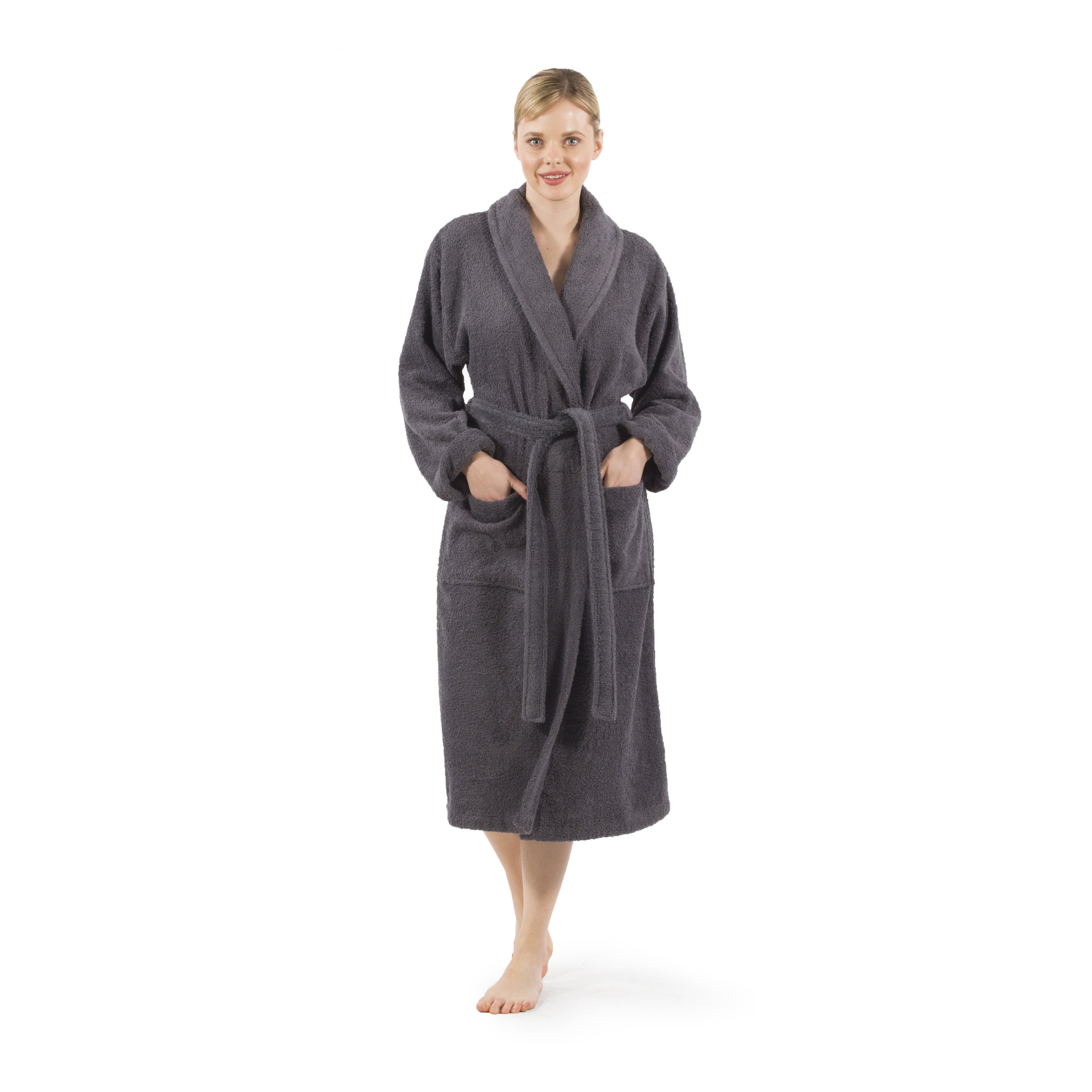 8f28d6e2ac Shop Authentic Hotel Spa Unisex Turkish Cotton Terry Cloth Bath Robe - On  Sale - Free Shipping Today - Overstock - 4757191