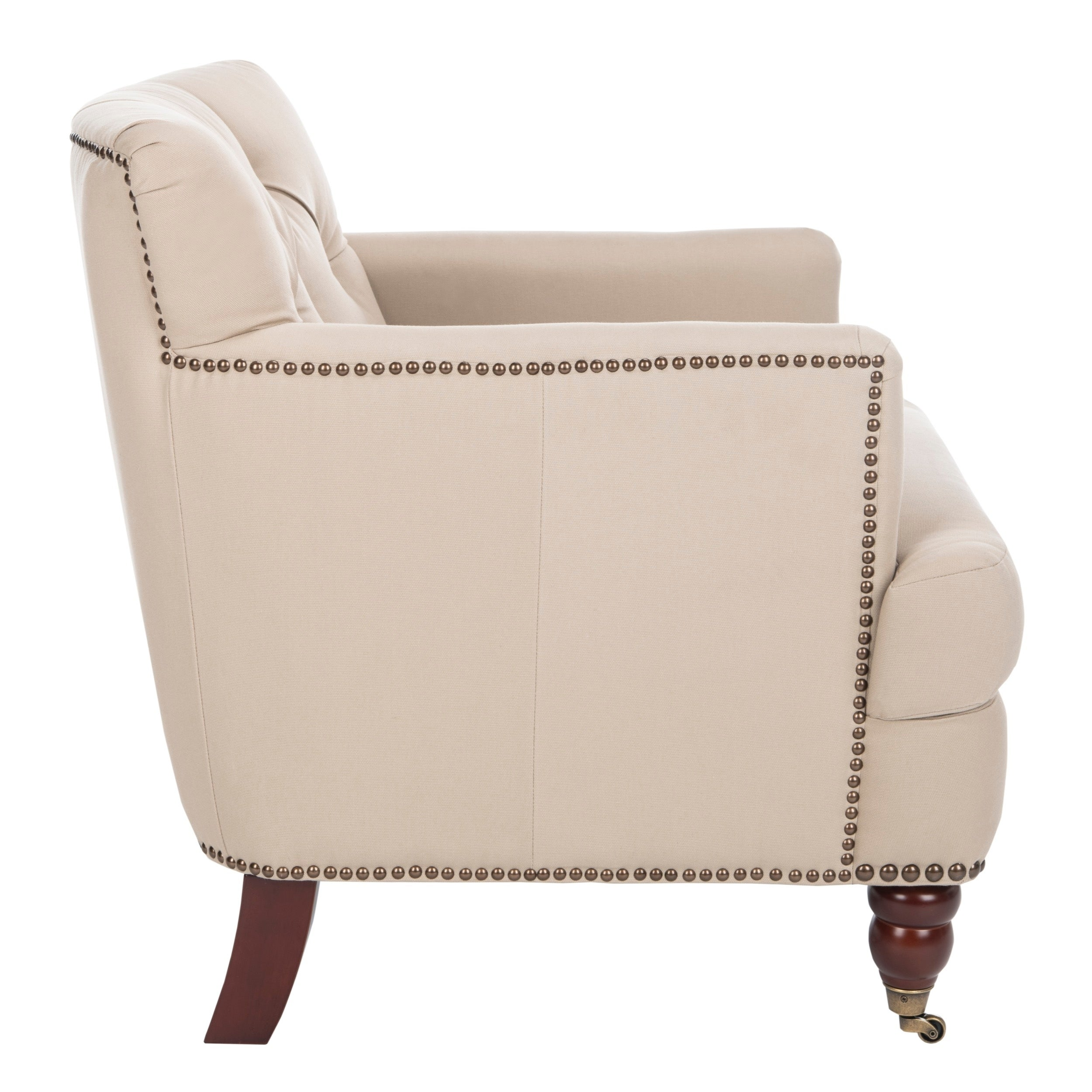 Safavieh Colin Taupe Cotton Tufted Club Chair   Free Shipping Today    Overstock   12661657