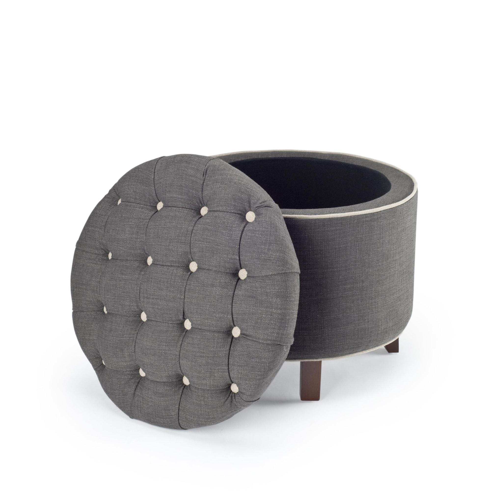 Shop safavieh reims grey storage ottoman free shipping today overstock com 4757236