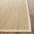 Safavieh Casual Natural Fiber Hand-Woven Sisal Natural / Beige Seagrass Runner (2'6 x 4')
