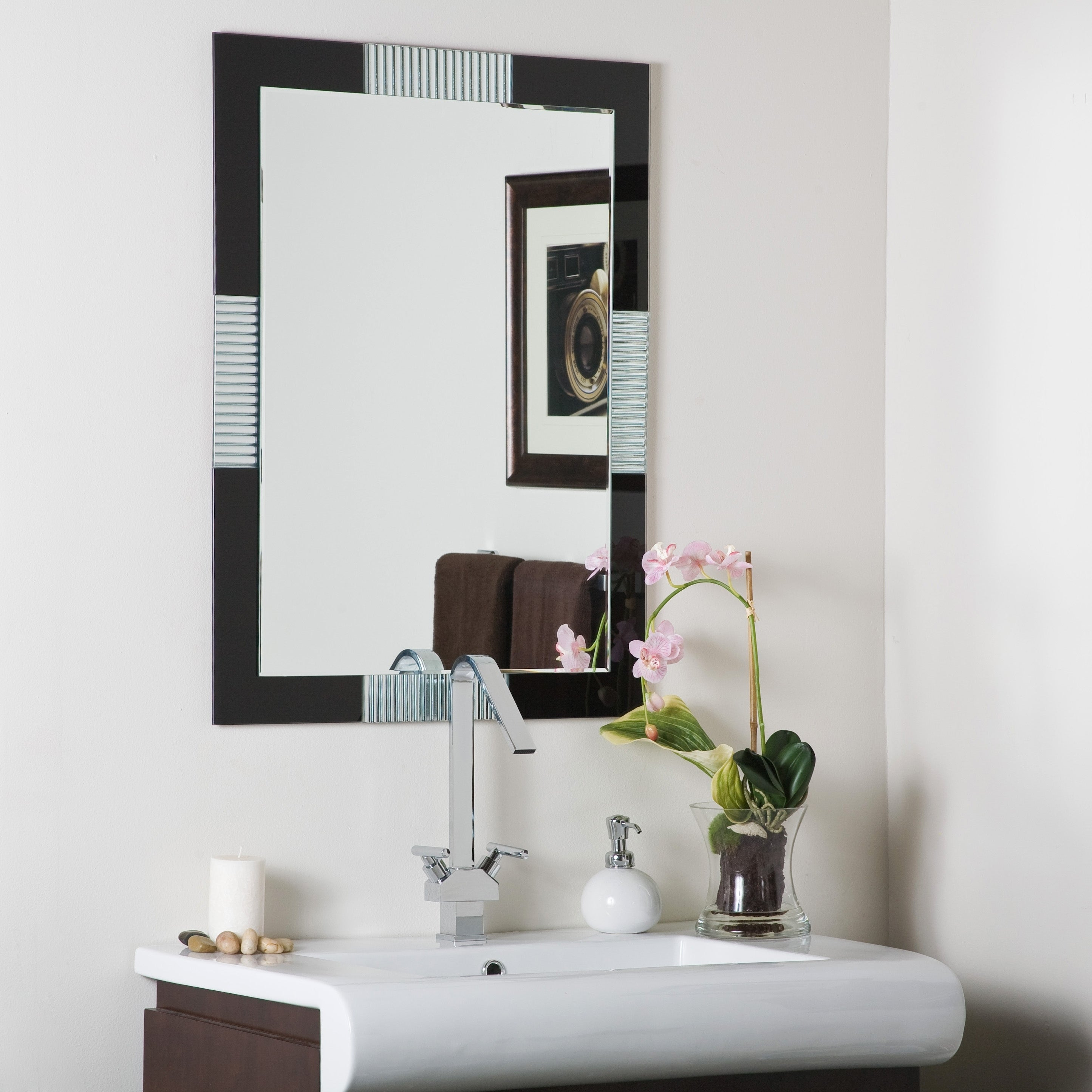 Francisco Large Frameless Wall Mirror - Free Shipping Today ...