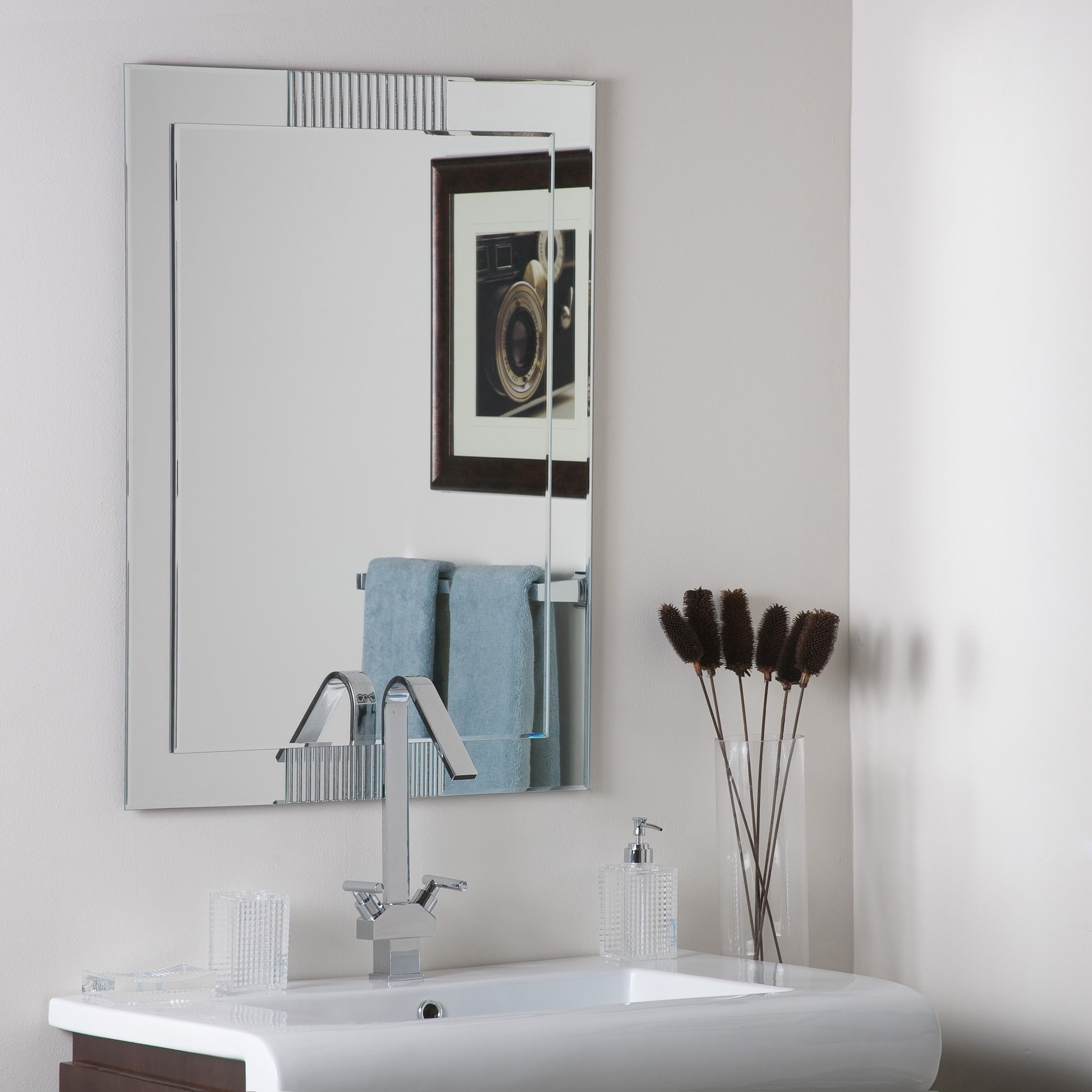 francisca large frameless wall mirror free shipping today