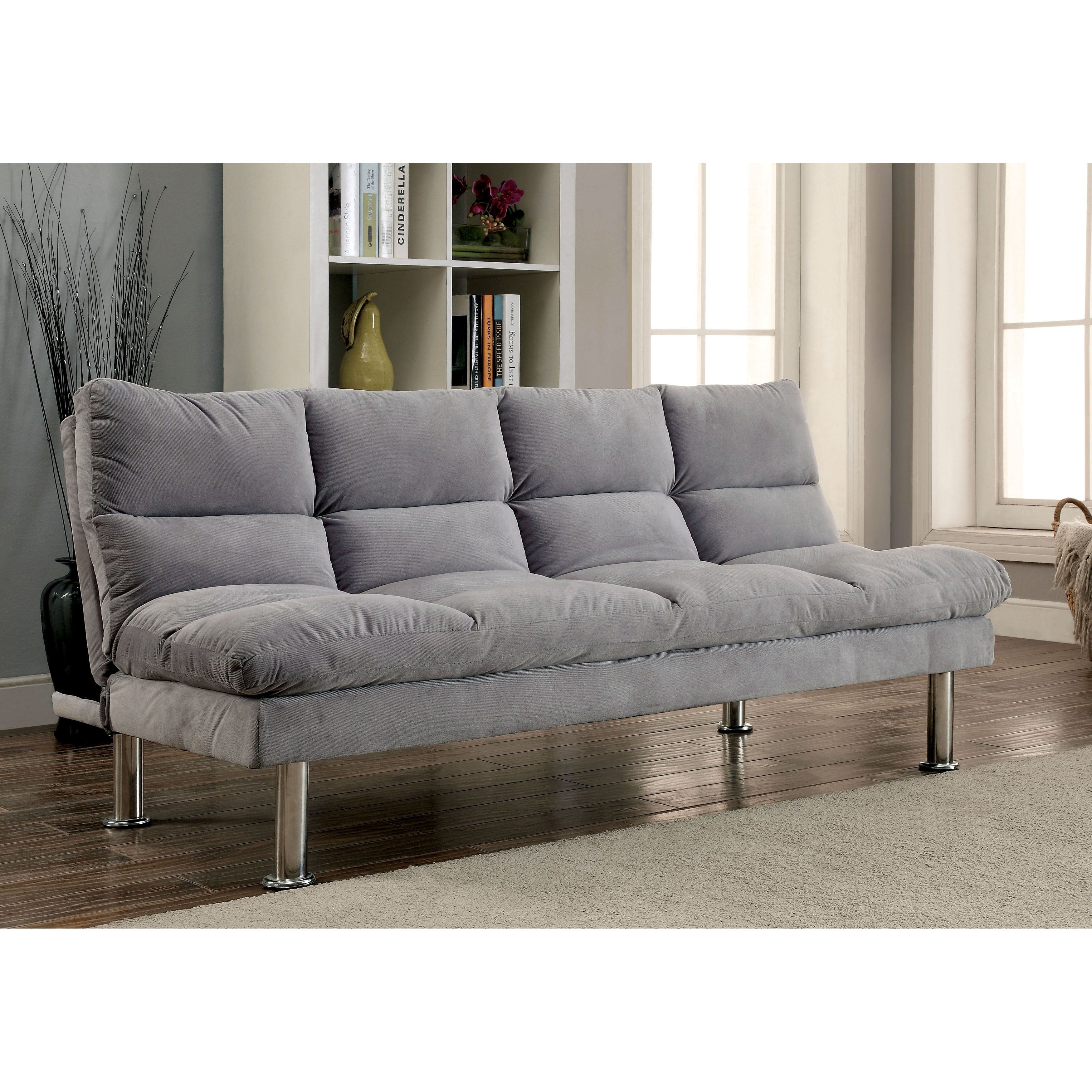 products contemporary with sofa microfiber bed charcoal back split