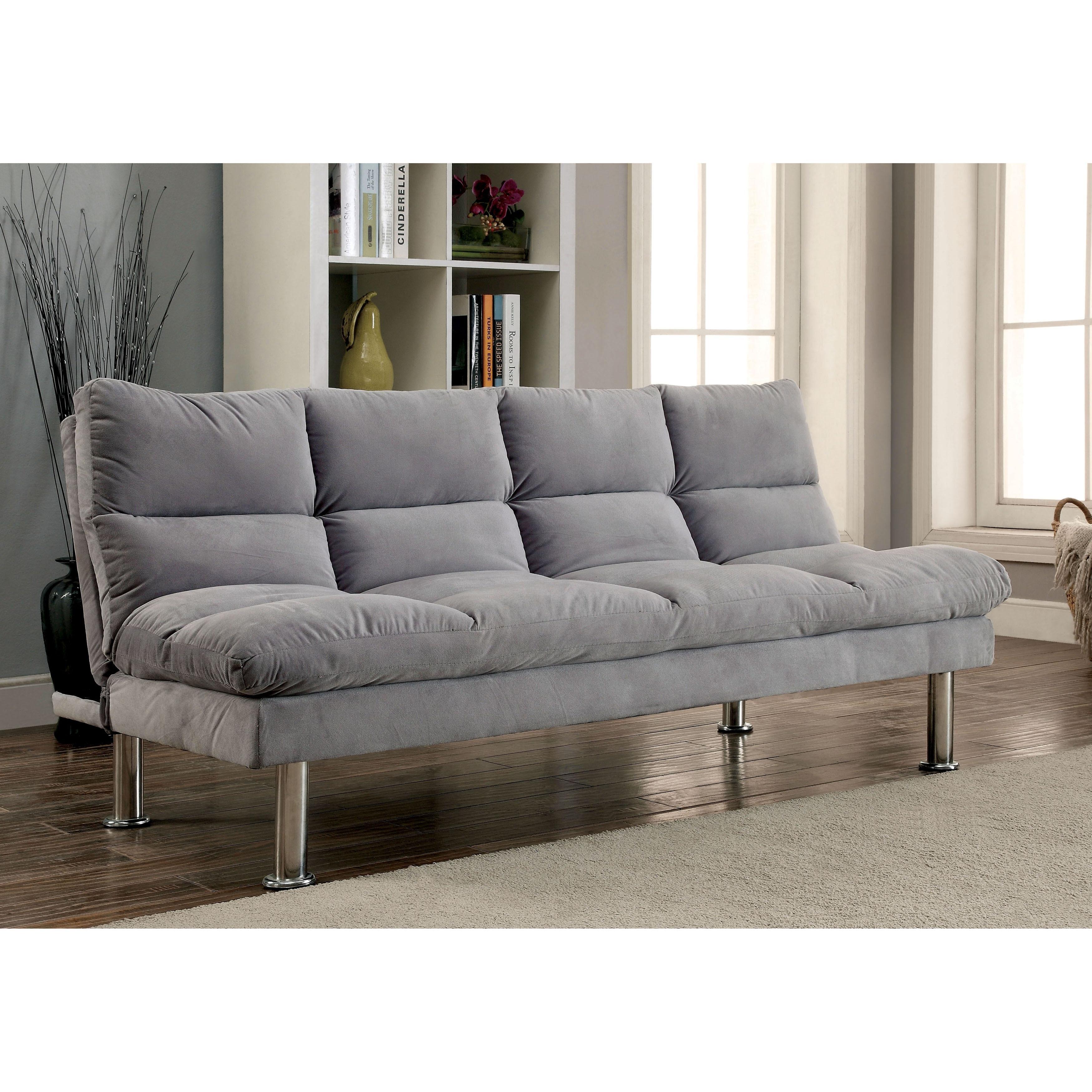 Furniture of america willow microfiber sofa futon