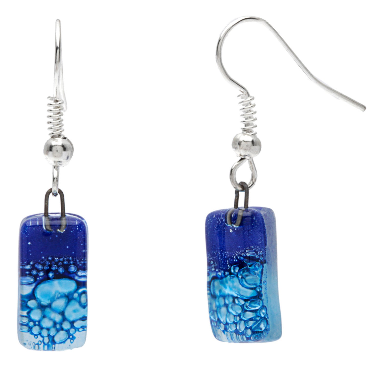 bristol earrings blue museums company products shop stud drop glass