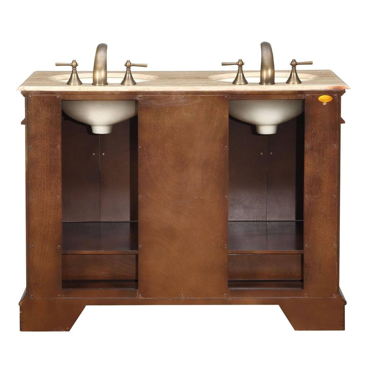 Shop Silkroad Exclusive Mesa 48 Inch Double Sink Bathroom Vanity