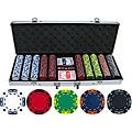 Z-striped 500-piece Clay Poker Chips