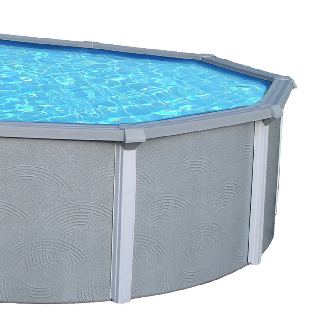 Zanzibar Round 54 Inch Deep, 8 Inch Top Rail Metal Wall Swimming Pool  Package   Free Shipping Today   Overstock.com   12695224