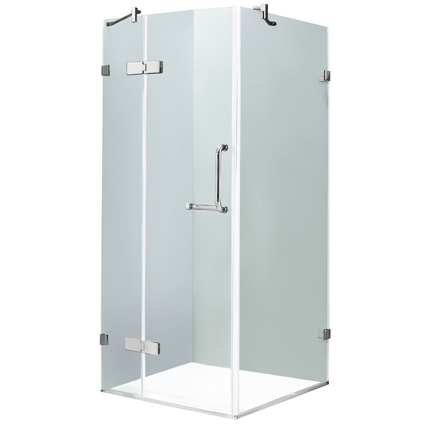 clear caspian inch of shower customer vigo glass size pivot door sliding full installation hardware service barn best doors frameless