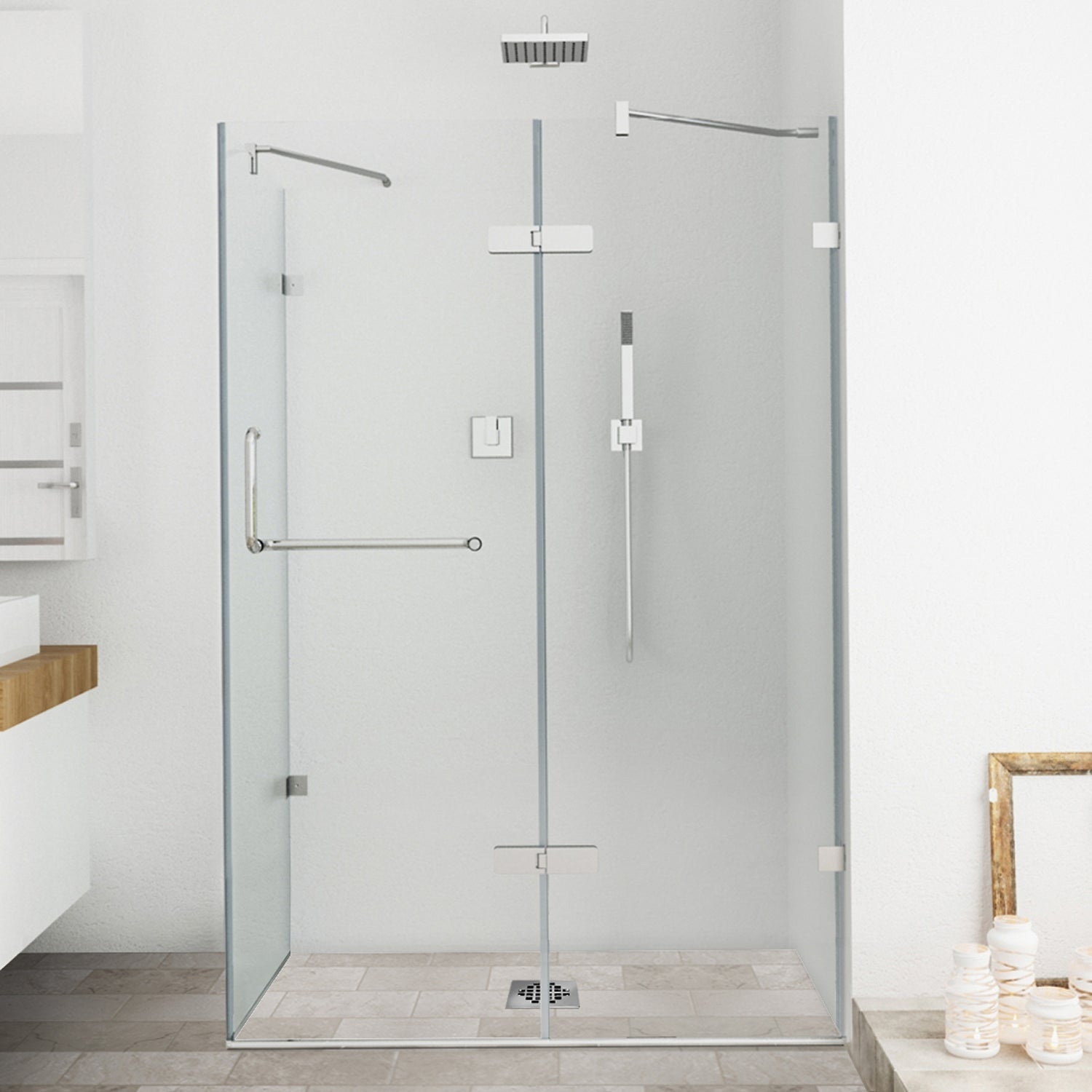 VIGO Frameless Clear Shower Enclosure (32 x 48) - 32 x 48 - Free Shipping  Today - Overstock.com - 12697767