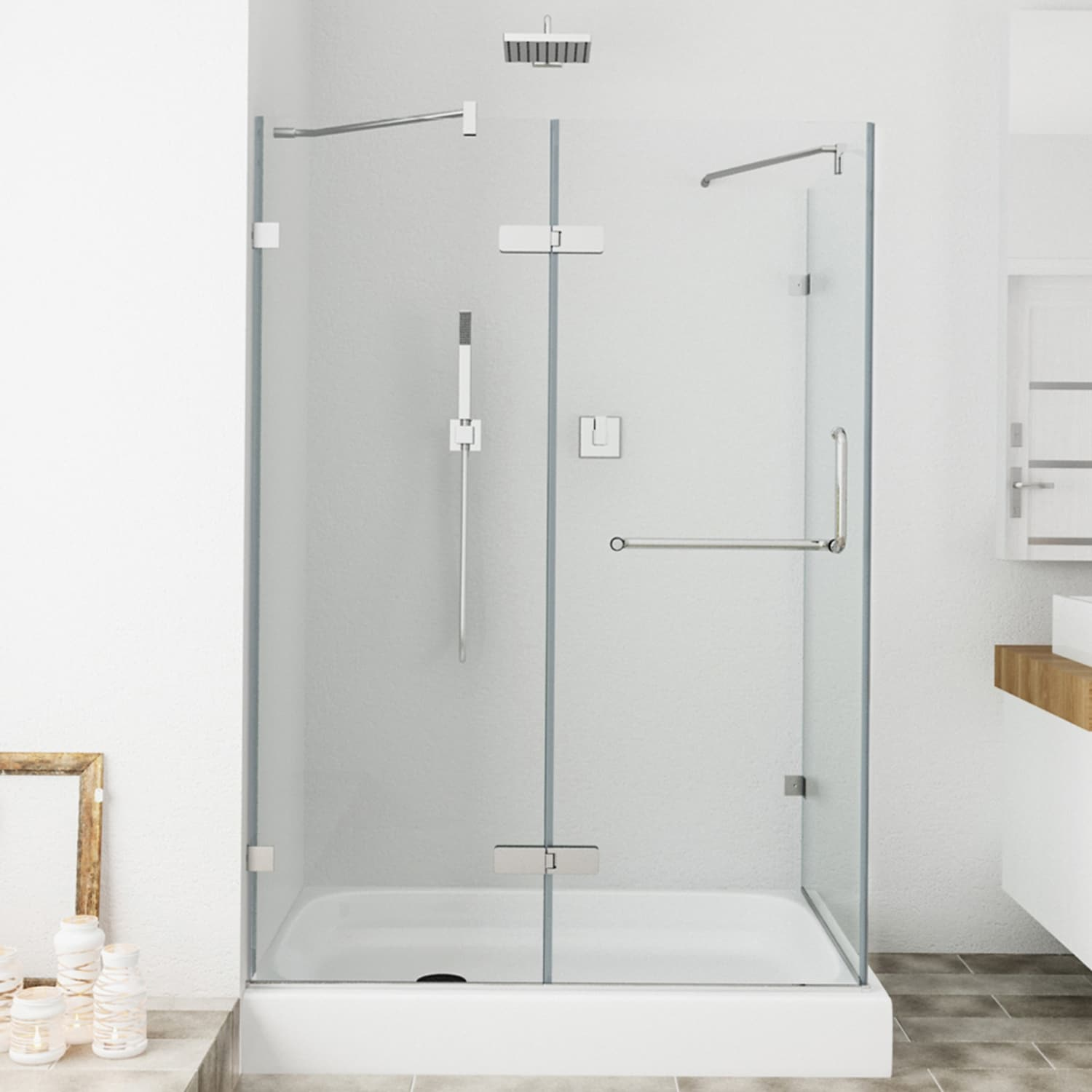 Ordinaire Shop VIGO Frameless Clear Glass Shower Enclosure With Left Base (36 X 48)    Free Shipping Today   Overstock.com   4801722