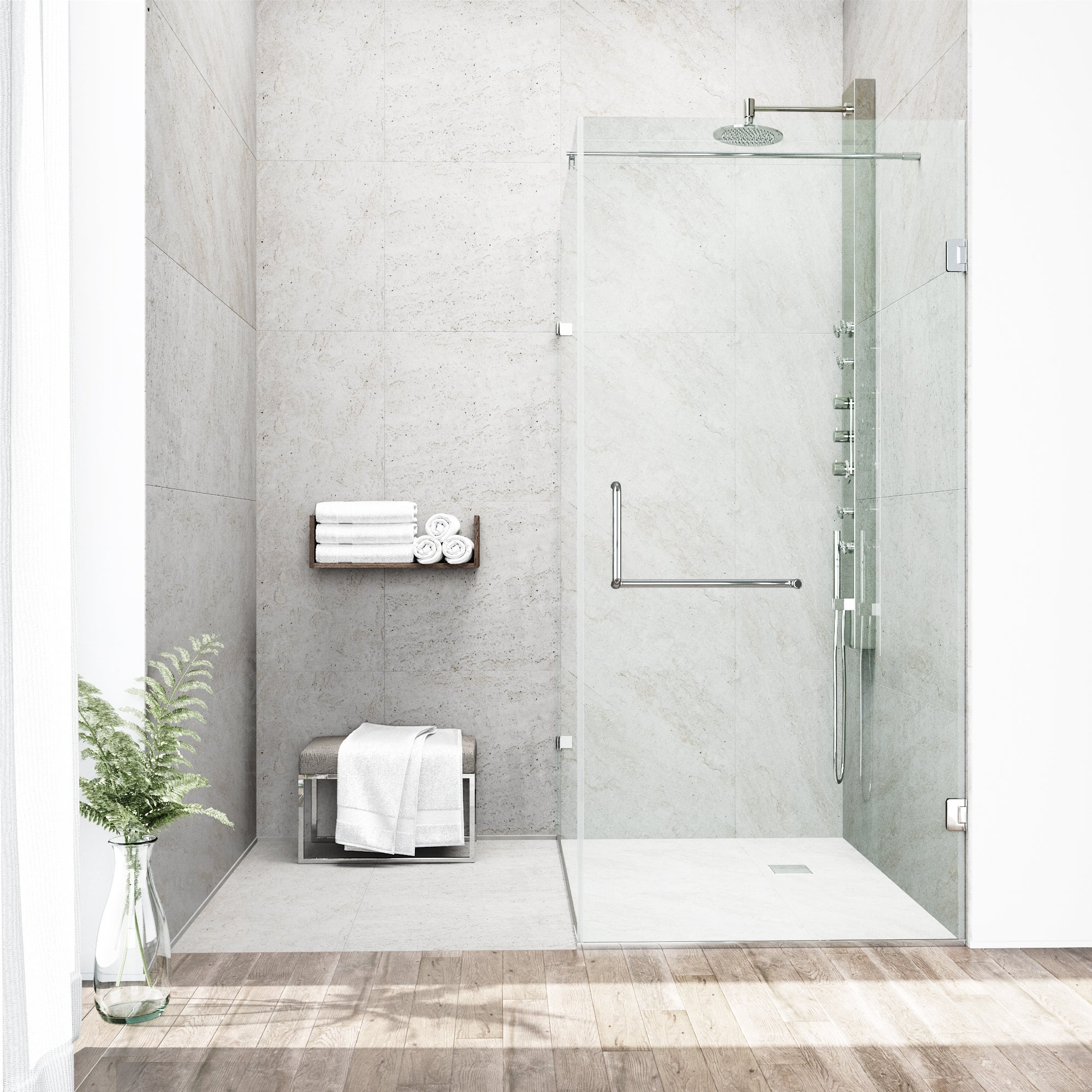 Shop VIGO Frameless Clear Shower Enclosure (36 x 48) - Free Shipping ...