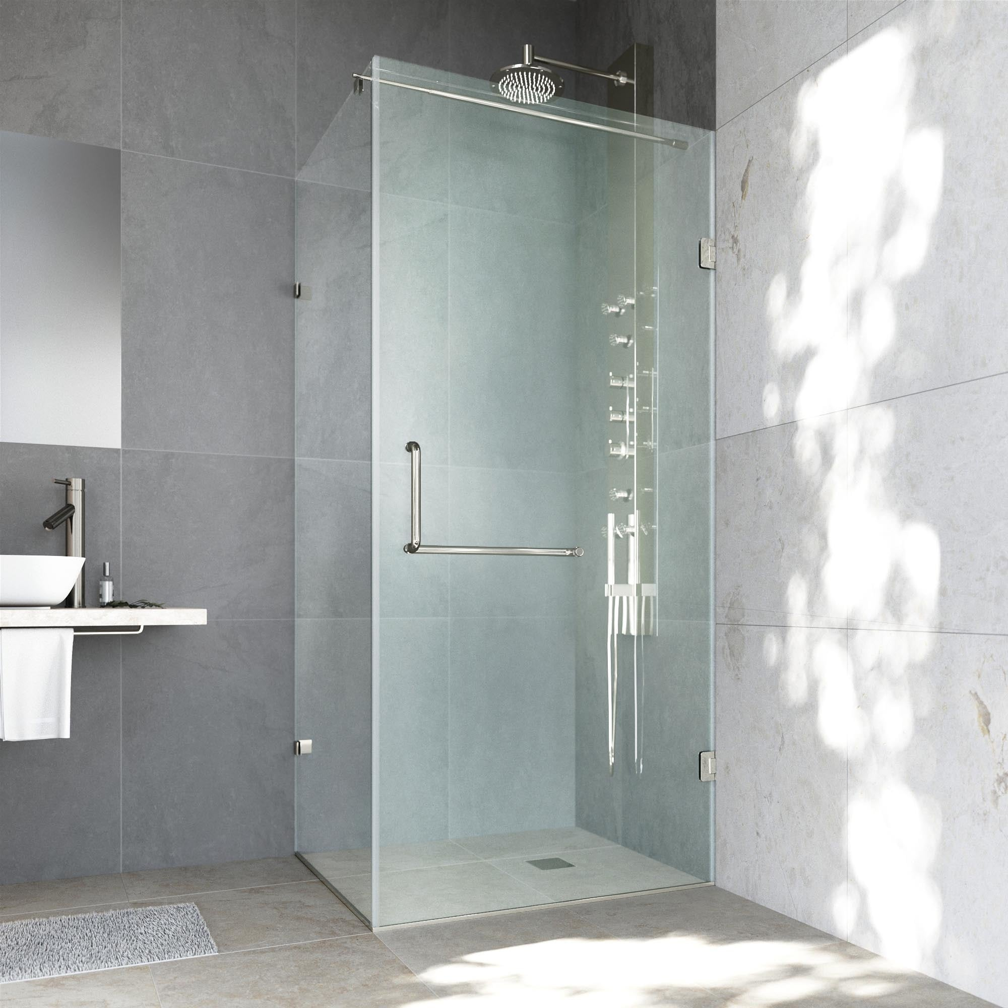 VIGO Frameless Clear Shower Enclosure (36 x 48) - Free Shipping ...
