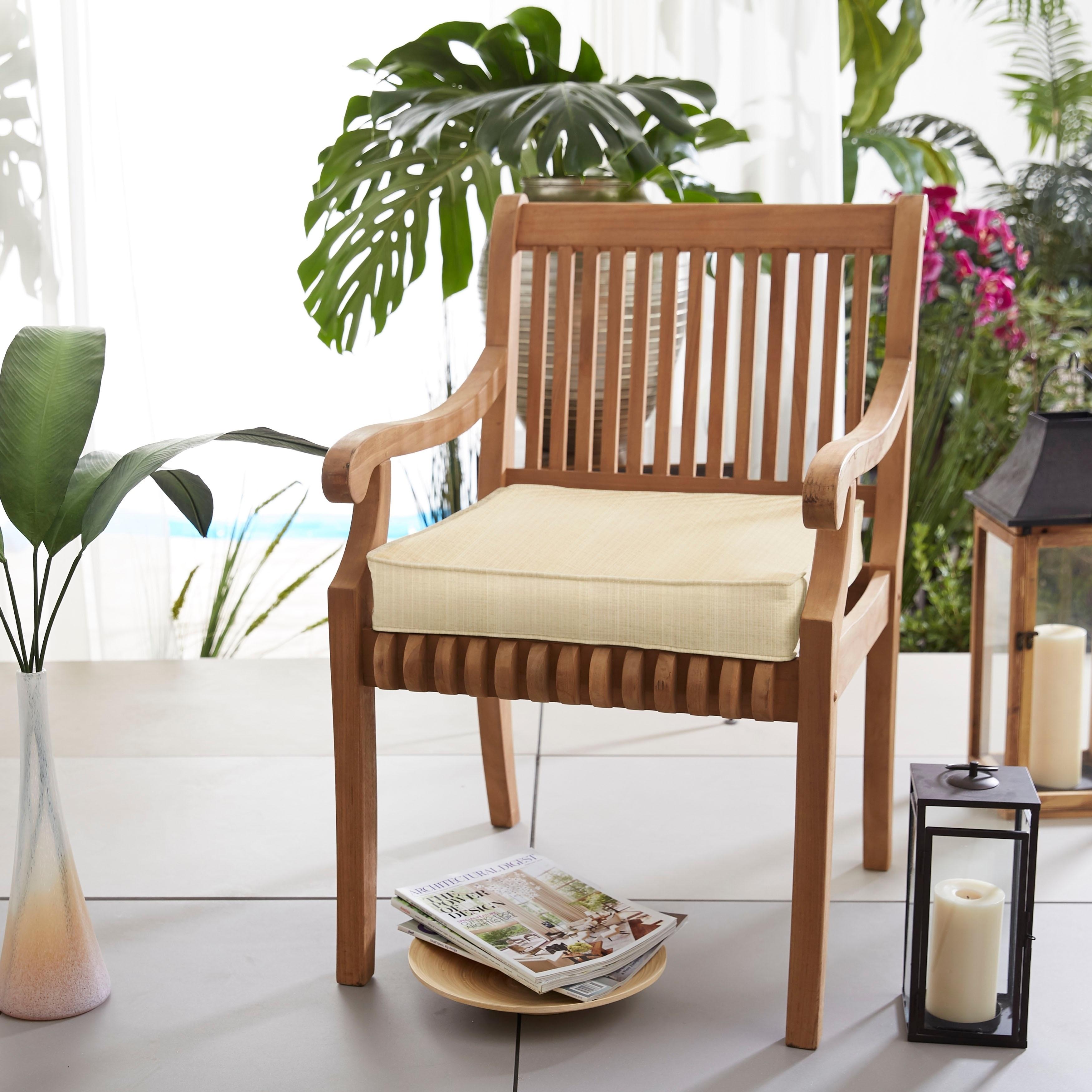 Shop Sunbrella Indoor Outdoor Textured Neutral 20 Inch Chair