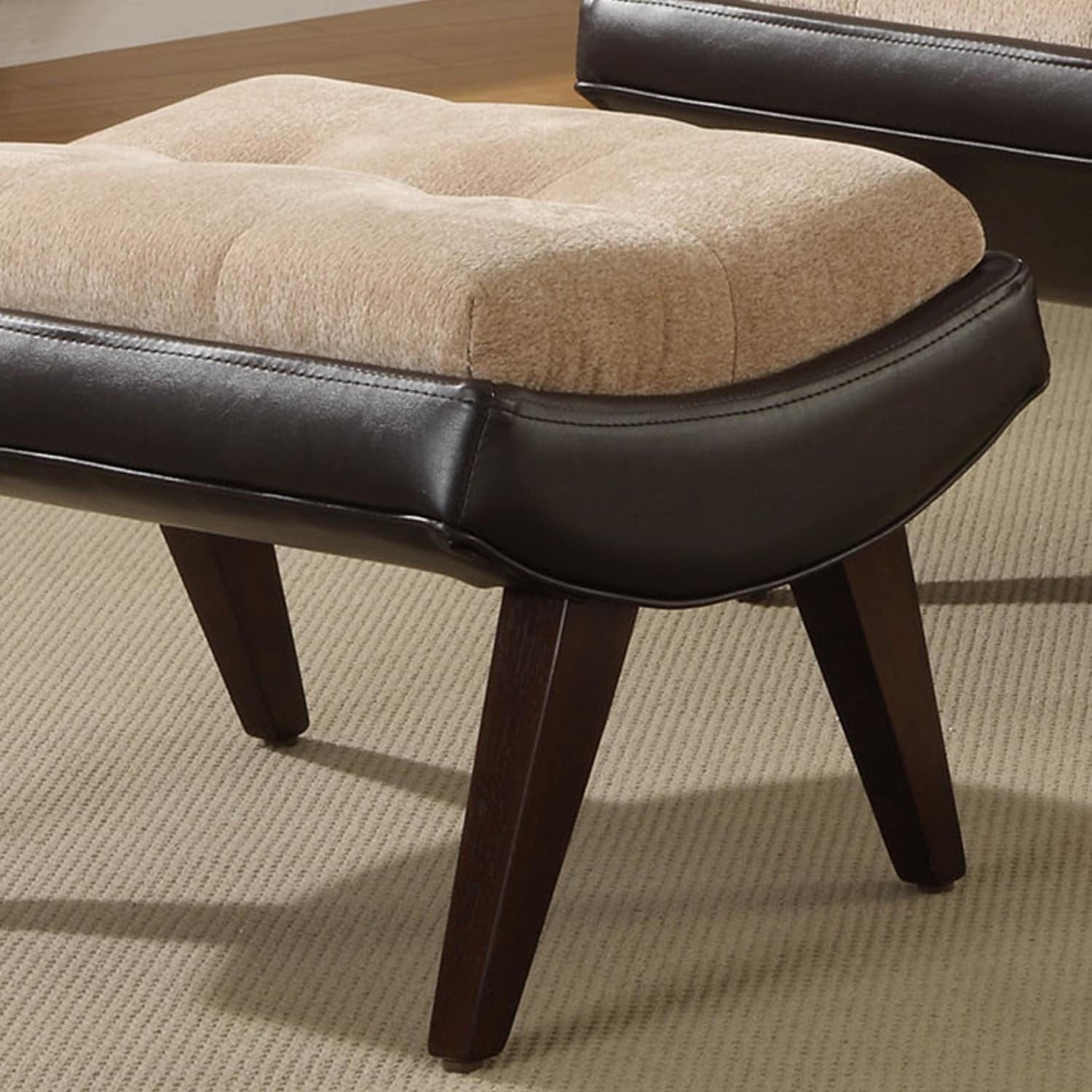 shop albury two tone lounging chair with ottoman by inspire q bold