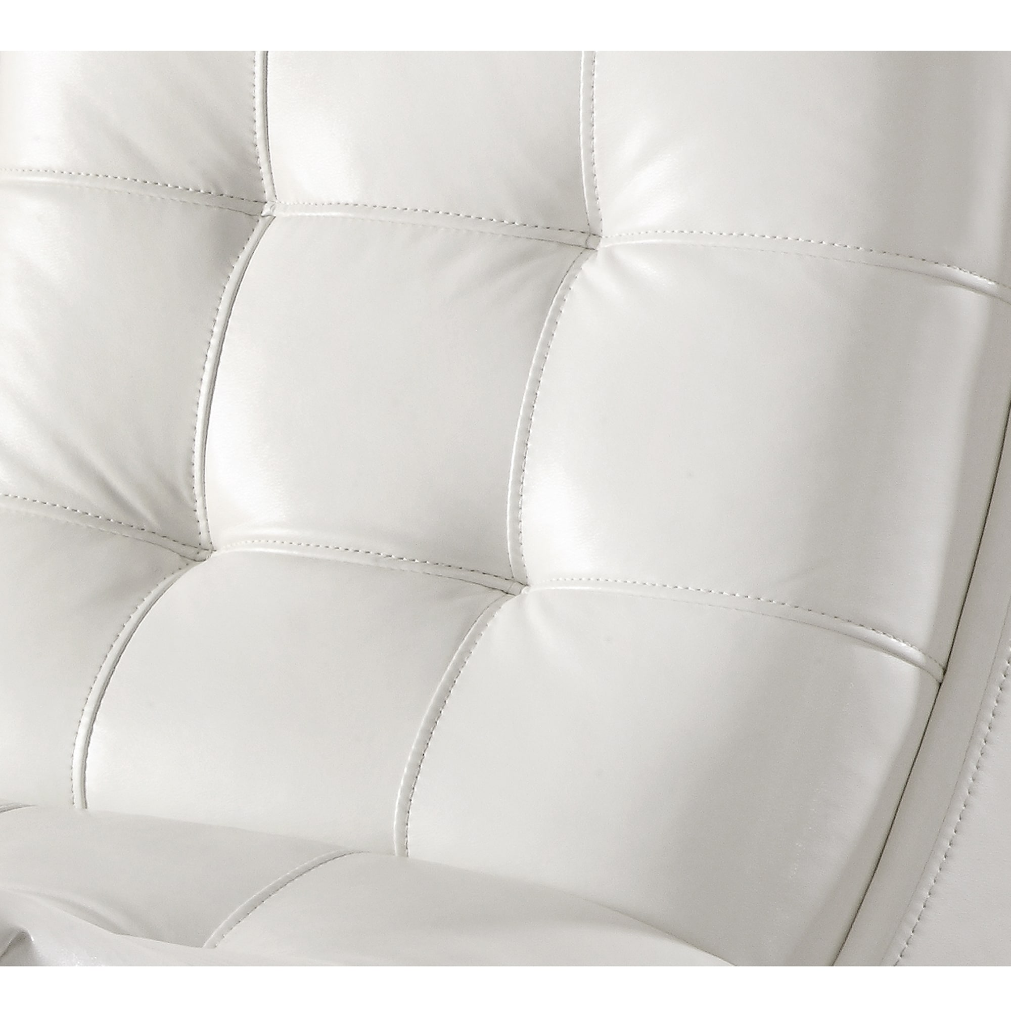 shop inspire q albury white faux leather chair with ottoman free