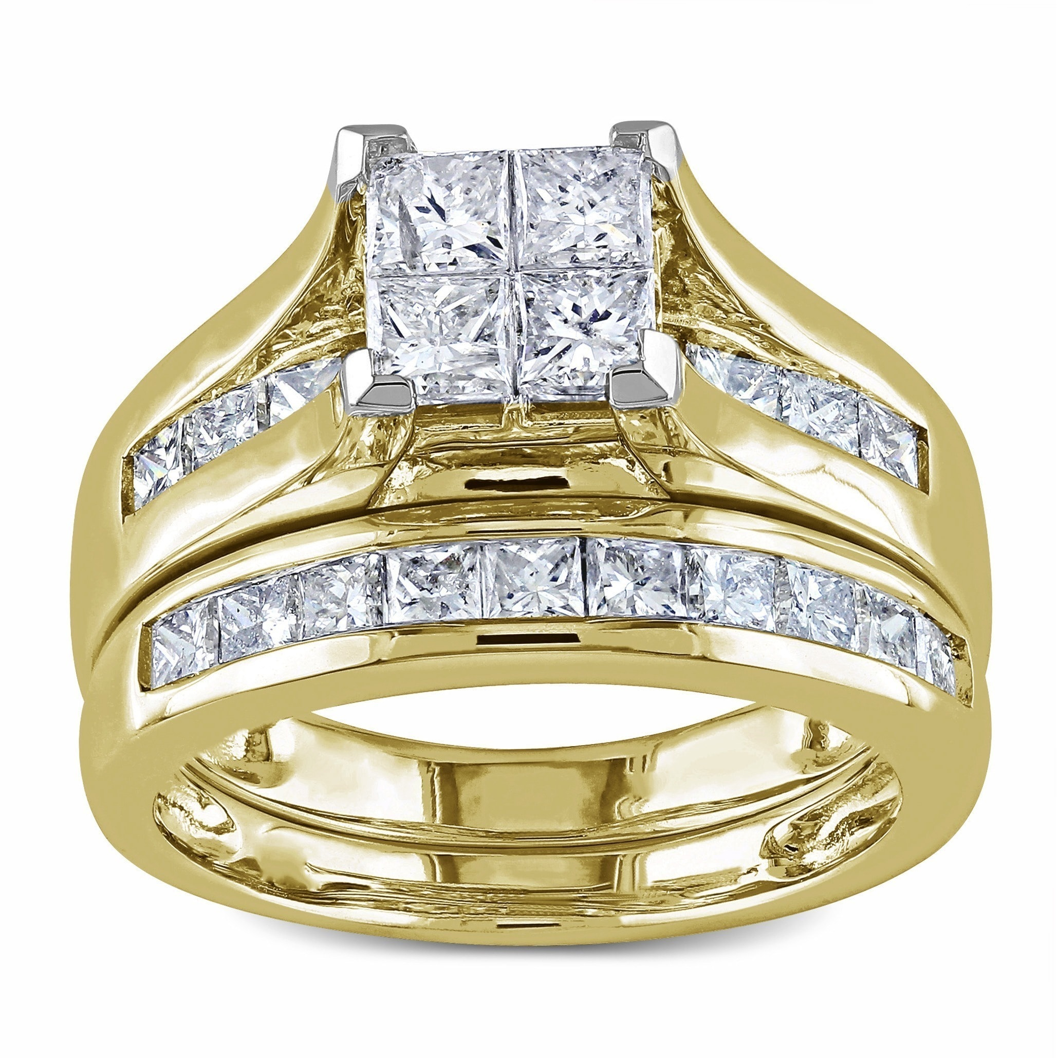 rings gold cut noventa primary stone diamond square princess in riddles white ring