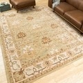 Nourison Caspian Hand-tufted Sage Green Wool Rug (5' x 8')