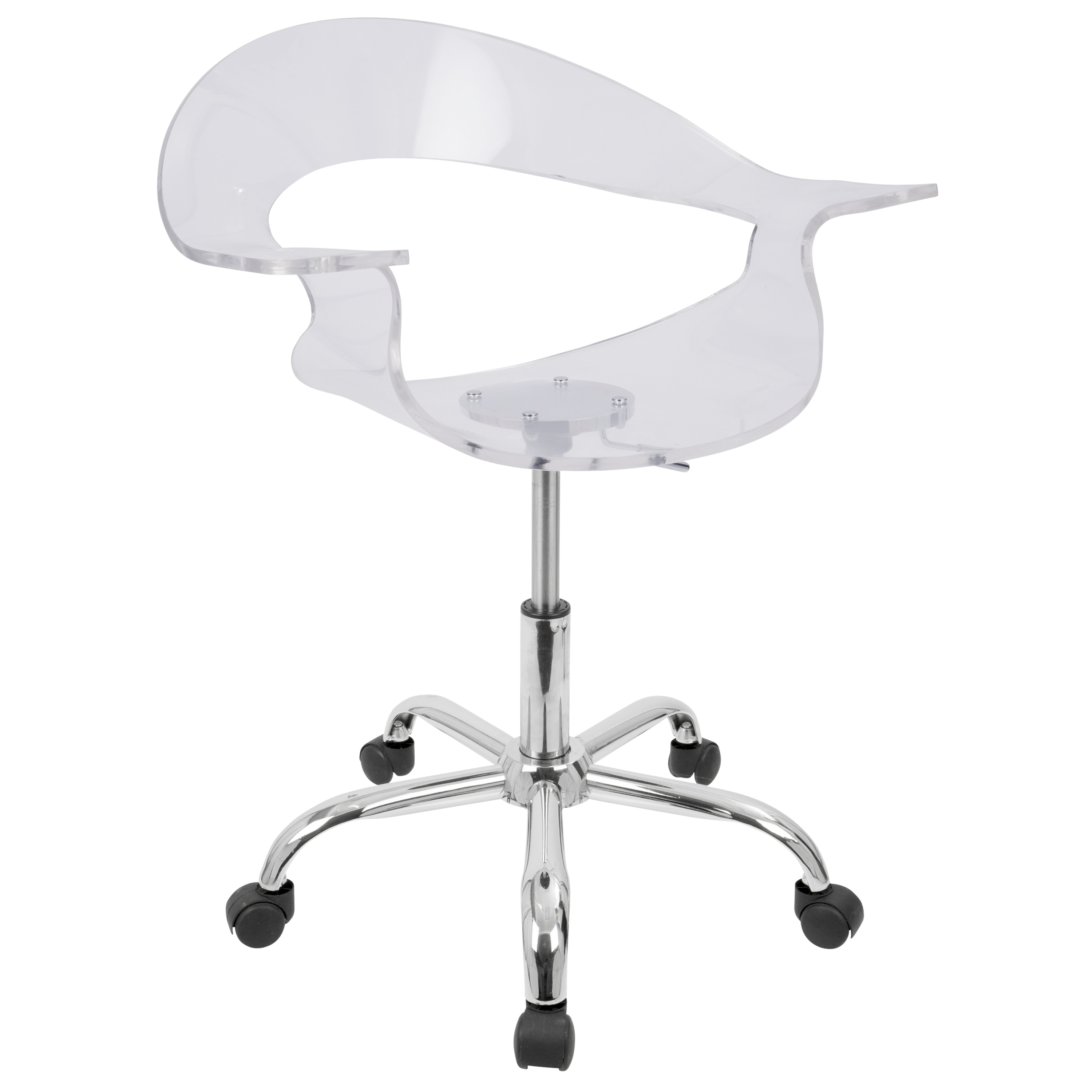 Shop lumisource rumor clear acrylic office chair on sale free shipping today overstock com 4835288