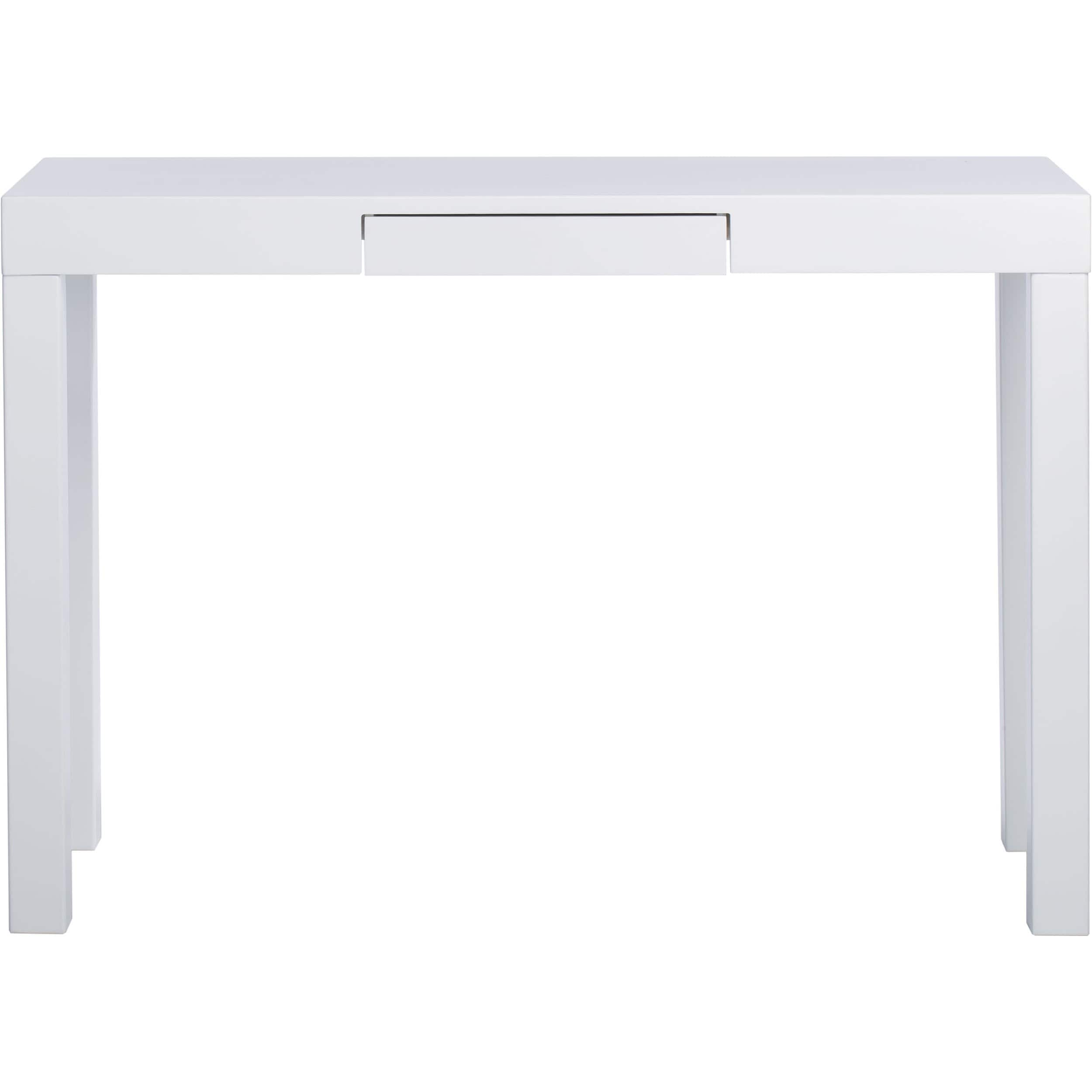 lachlan glossy white sofa table  free shipping today  overstockcom . lachlan glossy white sofa table  free shipping today  overstock