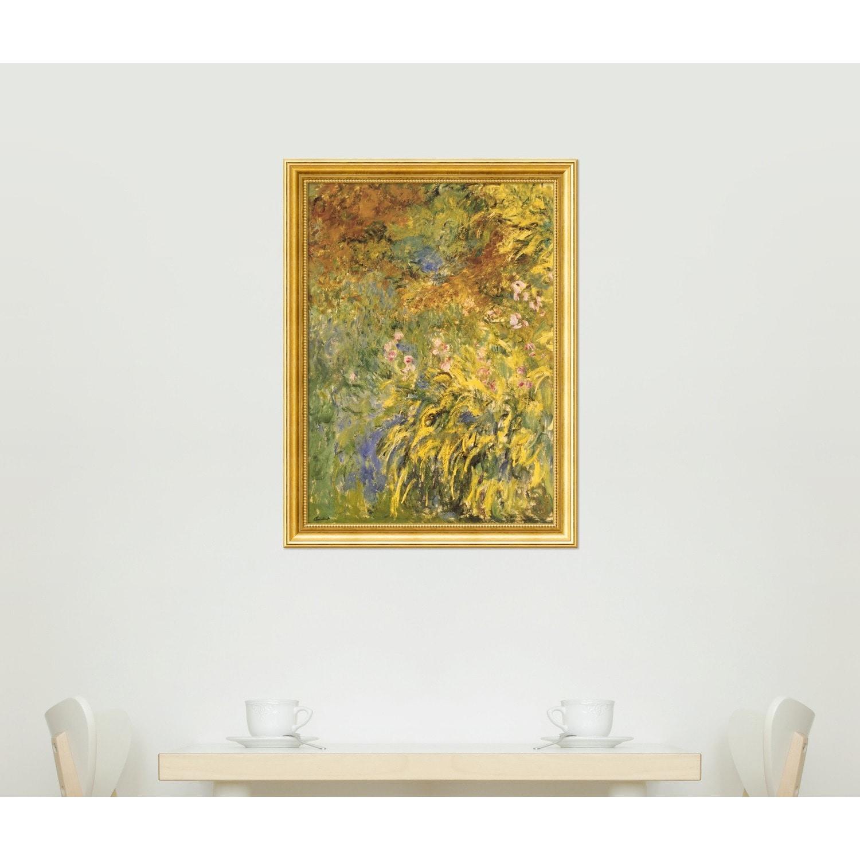 Shop Framed Art Print \'Irises\' by Claude Monet 25 x 33-inch - Free ...