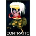 Framed Art Print Contratto (ca.1922) by Leonetto Cappiello 26 x 38-inch