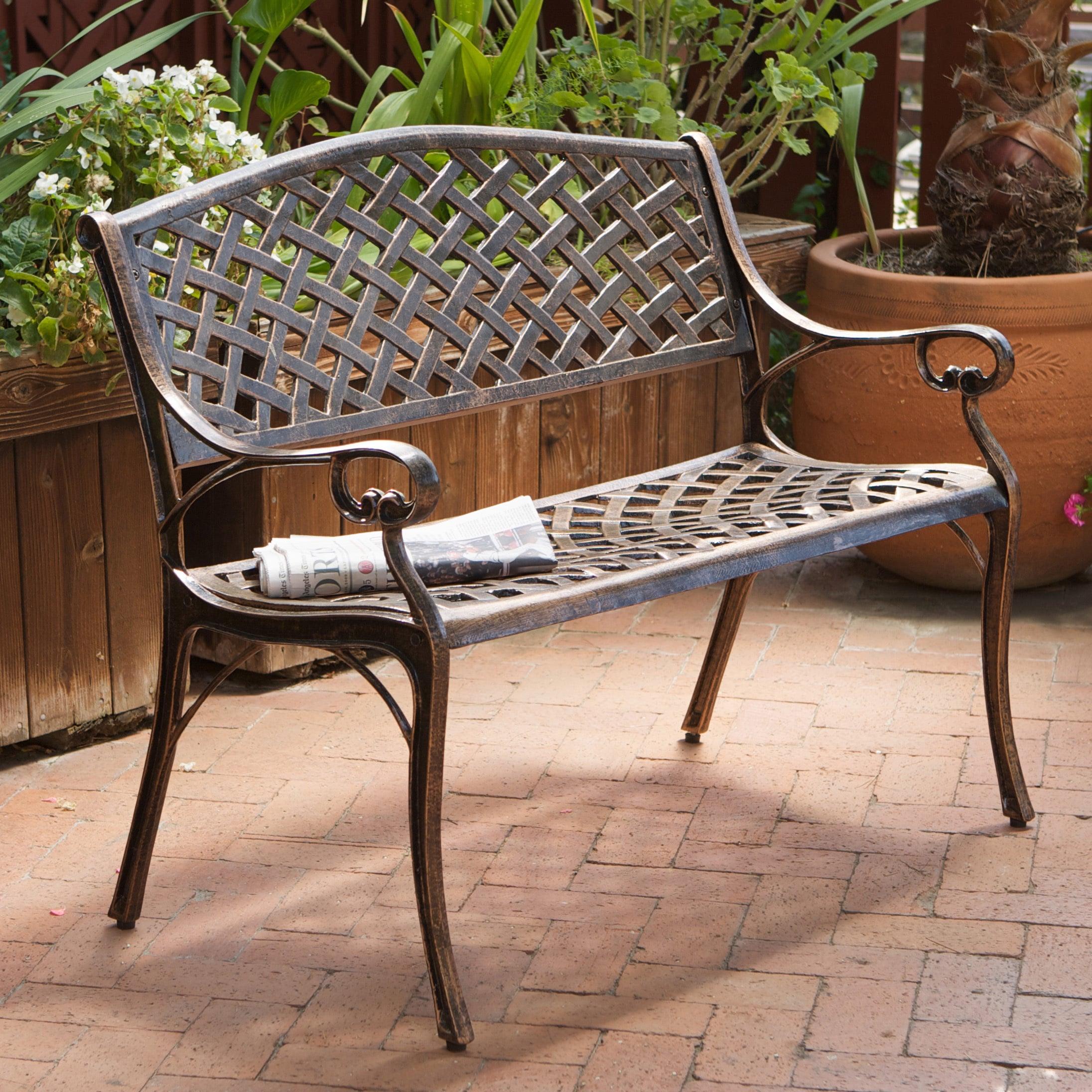 garden outdoor wayfair co metal uk coalbrookdale bench pdp gablemere reviews steel seater