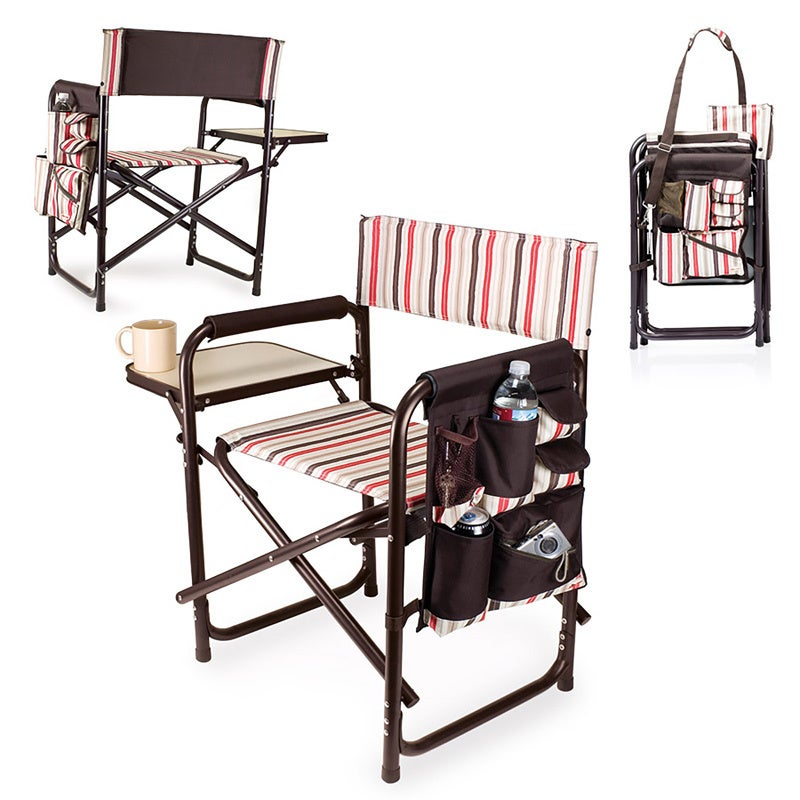 Attirant Shop Picnic Time Folding Sports Chair With Side Table   On Sale   Free  Shipping Today   Overstock   4870027