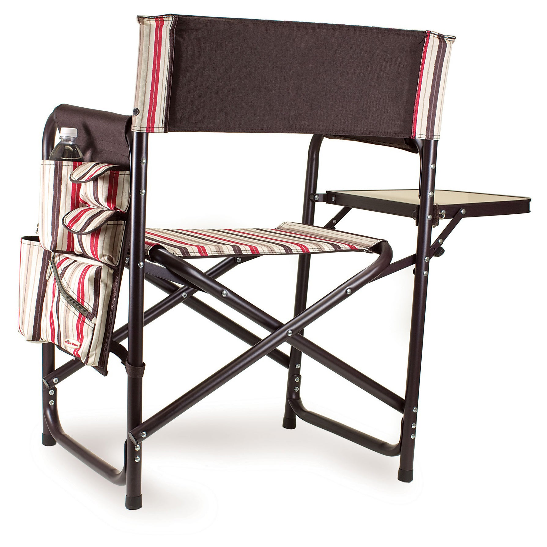 Shop Picnic Time Folding Sports Chair With Side Table   On Sale   Free  Shipping Today   Overstock.com   4870027